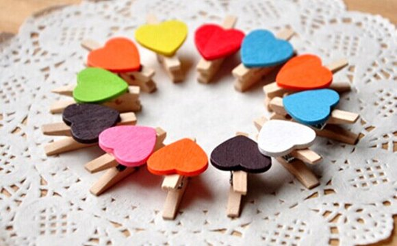 3 set colorful mini wood clips