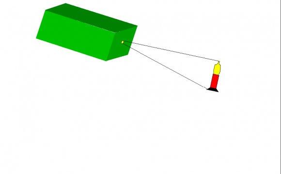 Pinhole Camera showing Pinhole