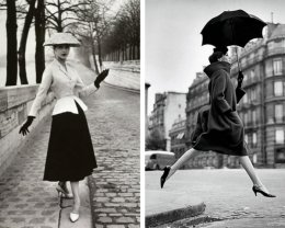"Christian Dior's ""New Look"" via Anna Nuttall (LEFT) // Avedon pays homage to photographer Martin Munkasci Via partnouveau (RIGHT)"