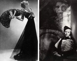 Man Ray for Harper's Bazaar 1936 via wehadfacesthen.tumblr.com (LEFT) // Horst P. Horst via classiq.me (RIGHT)