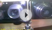 DIY 3D stereoscopic camera from two SONY dsc-w370