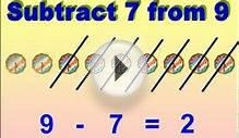 NUMBERS WORKSHEET SUBTRACT 7, 8 AND 9